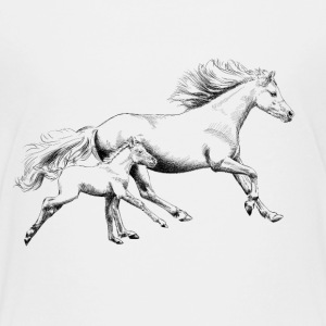 Mare with foal Kids' Shirts - Kids' Premium T-Shirt