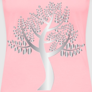Simple Silver Tree Without Background - Women's Premium T-Shirt