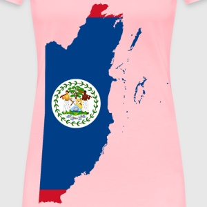 Belize Map Flag - Women's Premium T-Shirt