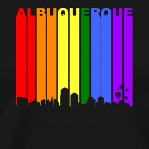 Albuquerque New Mexico Rainbow LGBT Gay Pride - Men's Premium T-Shirt