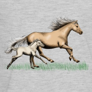 Mare with foal Kids' Shirts - Kids' Premium Long Sleeve T-Shirt