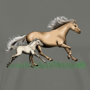 Mare with foal T-Shirts - Men's Premium T-Shirt