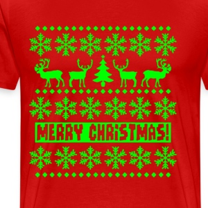 UGLY CHRISTMAS SWEATER - Men's Premium T-Shirt