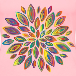 Chromatic Flower Petals 6 - Women's Premium T-Shirt