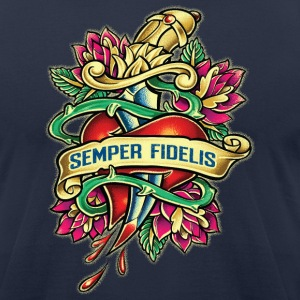 Semper_Fi - Men's T-Shirt by American Apparel