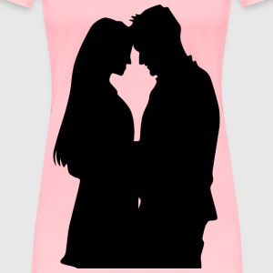 Romantic Couple Silhouette 2 - Women's Premium T-Shirt