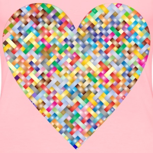 Colorful Heart Lattice Weave 3 - Women's Premium T-Shirt