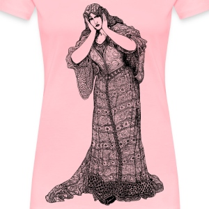 Lady in dress - Women's Premium T-Shirt