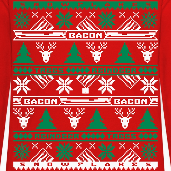 Bacon Ugly Sweater Kids' Premium Long Sleeve T-Shirt