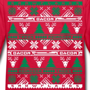 Bacon Ugly Sweater Kids' Long Sleeve T-Shirt - Kids' Long Sleeve T-Shirt