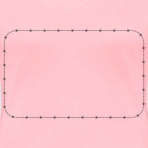 Barbed Wire Rounded Rectangle Frame Border - Women's Premium T-Shirt