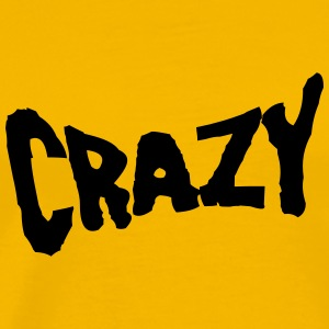 Text font logo design cool crazy crazy confused st T-Shirts - Men's Premium T-Shirt