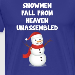 Snowmen Fall from Heaven Unassembled T-Shirt T-Shirts - Men's Premium T-Shirt