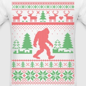 Sasquatch Ugly Christmas T-Shirts - Men's T-Shirt