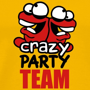 Team, crew, party, mad, crazy, crazy, comic, carto T-Shirts - Men's Premium T-Shirt