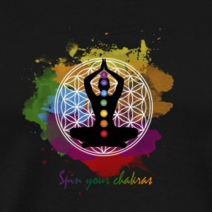 SPIN YOUR CHAKRAS - Men's Premium T-Shirt