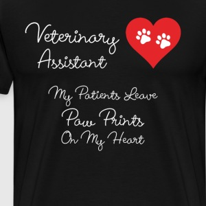 Veterinary Assistant Paw Prints on My Heart TShirt T-Shirts - Men's Premium T-Shirt