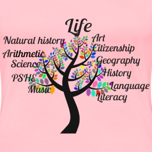 Education Tree Typography - Women's Premium T-Shirt