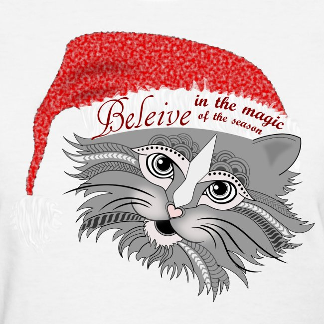 Christmas Kitty Women's T-Shirt from South Seas Tees