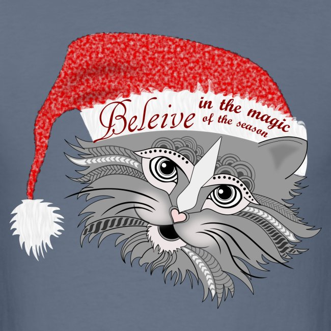 Christmas Kitty Men's T-Shirt from South Seas Tees