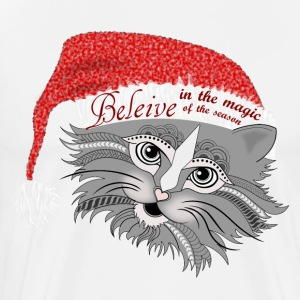 Christmas Kitty Men's Premium T-Shirt from South S - Men's Premium T-Shirt