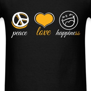 Peace Love Happiness - Men's T-Shirt