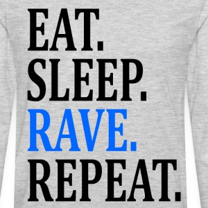 EAT SLEEP RAVE REPEAT Long Sleeve Shirts - Men's Premium Long Sleeve T-Shirt