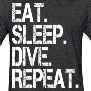EAT SLEEP DIVE REPEAT T-Shirts - Fitted Cotton/Poly T-Shirt by Next Level