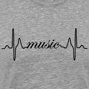 Music ECG heartbeat - Men's Premium T-Shirt