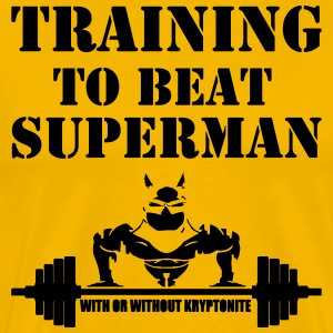 Training to beat superman - Men's Premium T-Shirt
