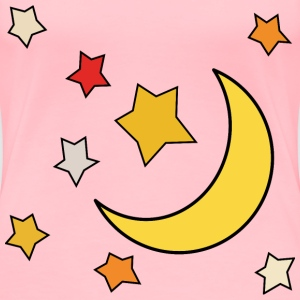 Moon and stars 1 - Women's Premium T-Shirt