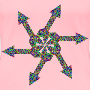 Prismatic Low Poly Arrow Art 3 - Women's Premium T-Shirt