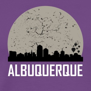 Albuquerque Full Moon Skyline - Men's Premium T-Shirt