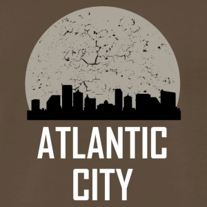 Atlantic City Full Moon Skyline - Men's Premium T-Shirt