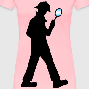 Detective with Magnifying Glass - Women's Premium T-Shirt