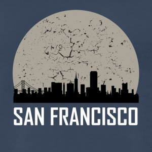 San Francisco Full Moon Skyline - Men's Premium T-Shirt