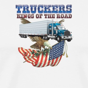 Truckers Kings of the Road - Men's Premium T-Shirt