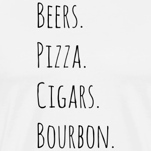 Beers. Pizza. Cigars. Bourbon. - Men's Premium T-Shirt