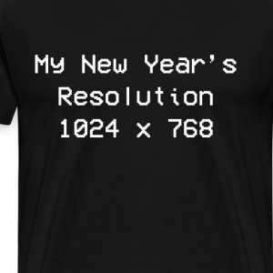 My New Year's Resolution is 1024 x 768 T-Shirt T-Shirts - Men's Premium T-Shirt