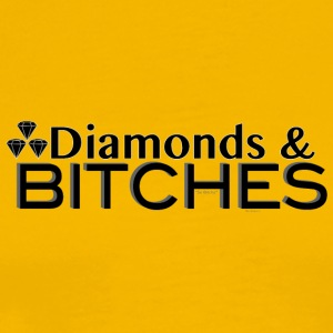 DIAMONDS & BITCHES - Men's Premium T-Shirt