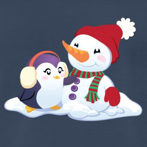 Penguin & Snowman Winter Friends - Men's Premium T-Shirt