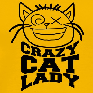 Head cat crazy cat lady love crazy pets kitten wom T-Shirts - Men's Premium T-Shirt