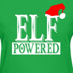 Christmas elf caffiene powered graphic logo T-Shirts - Women's T-Shirt