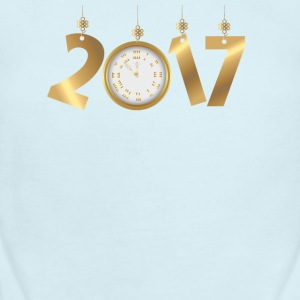 2017 Happy New Years Gold Countdown to Midnight Baby Bodysuits - Short Sleeve Baby Bodysuit