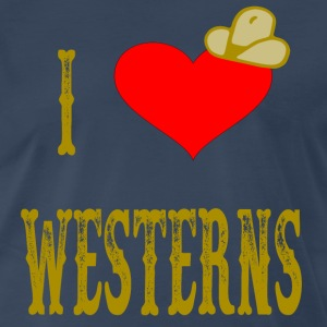 I Love Westerns T-Shirts - Men's Premium T-Shirt