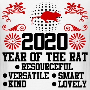 2020,happy new year,new year,rat,YEAR OF THE RAT - Men's T-Shirt