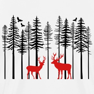 Caribou_And_Tree - Men's Premium T-Shirt