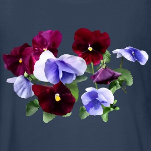 Maroon And Purple Pansies Kids' Shirts - Kids' Premium Long Sleeve T-Shirt