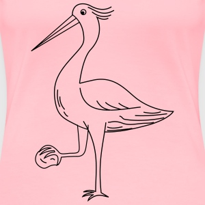 The heron with a stone - Women's Premium T-Shirt