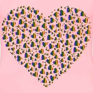 Chaotic Colorful Heart Fractal 10 No Background - Women's Premium T-Shirt